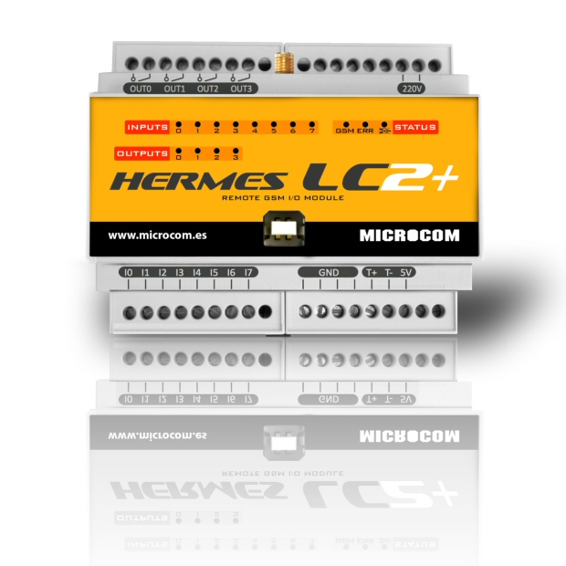 Microcom Hermes LC2 TELECONTROL Y DATALOGGER GSM/GPRS