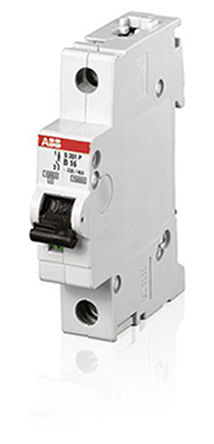 MCB, 1P, 1.6 A, Breaking Capacity 10 kA, DIN Rail Mounting, Type K Tripping <br />