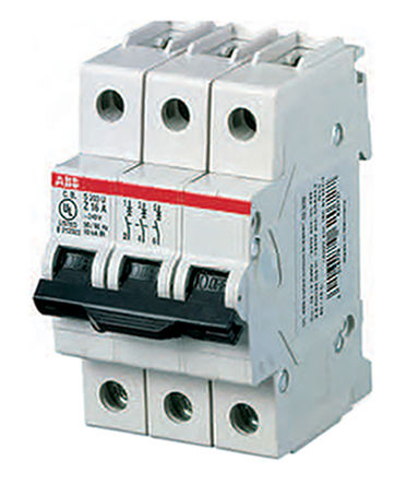 MCB, 3P, 4A, Breaking Capacity 10 kA, DIN Rail Mounting, Type K Tripping <br />