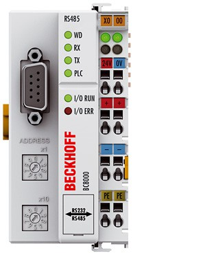 BECKHOFF BC8100 | Bus Terminal Controller with integrated IEC 61131-3 PLC, 32 kbytes program memory, RS232C interface