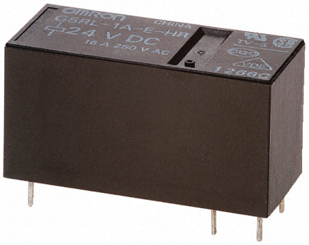 Non-Locking Relay, SPDT, PCB Mounting, 16A, 12V DC